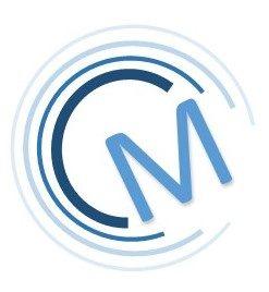 Logo de Mickaël Coupat avec un M à l'intérieur de plusieurs C en forme d'ondes