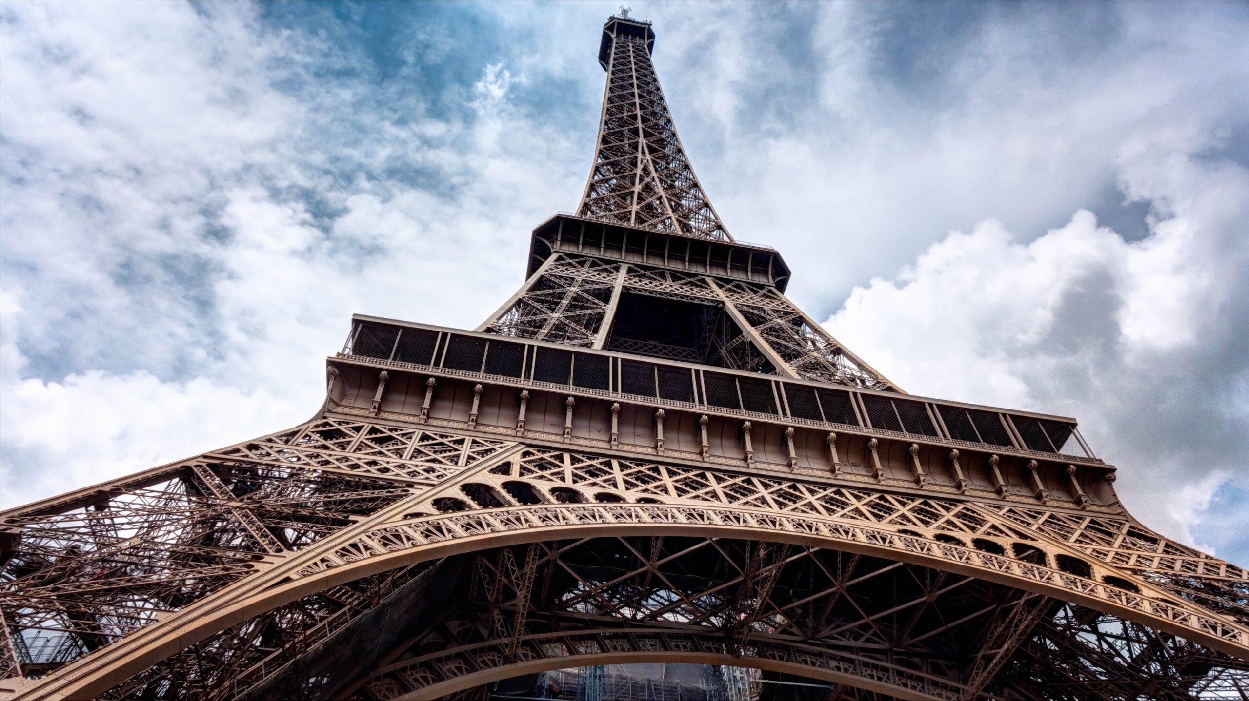 Photo de la Tour Eiffel vu de dessous